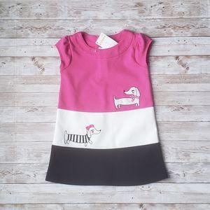 Gymboree Color Block Dress with Dashund Design